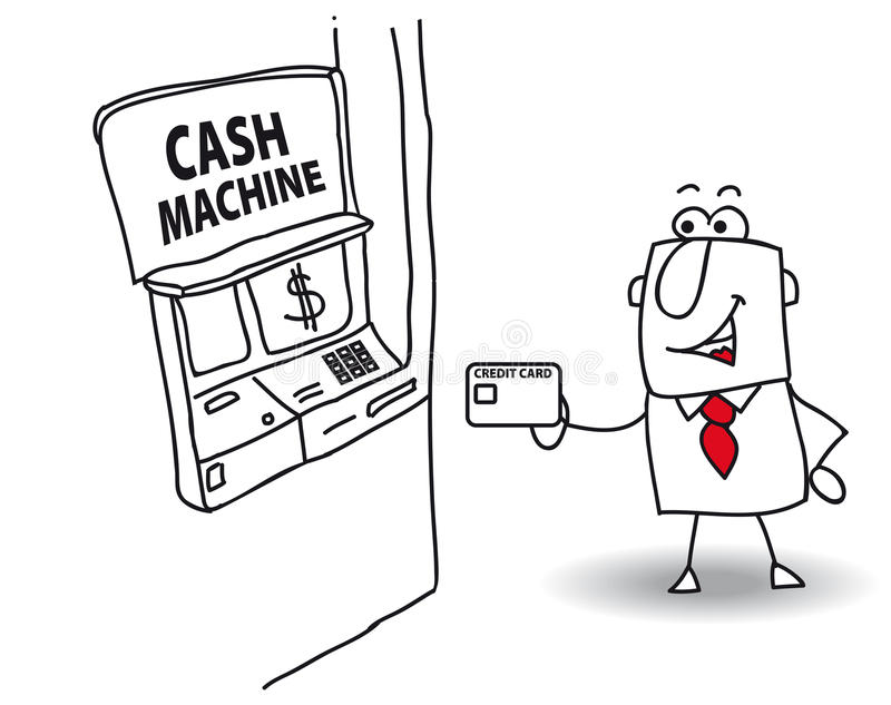 Contant geldmachine stock illustratie