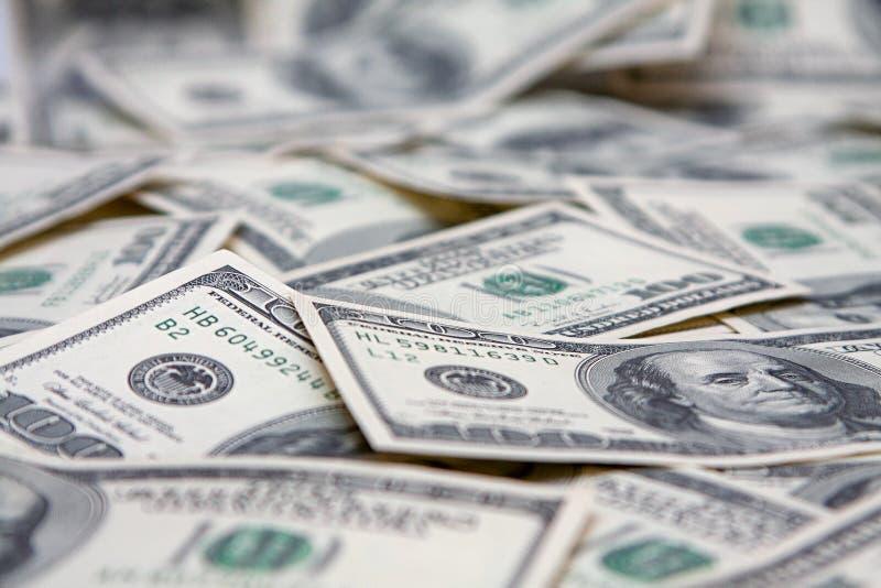 contanti Banconote su cento dollari, fine su fotografia stock