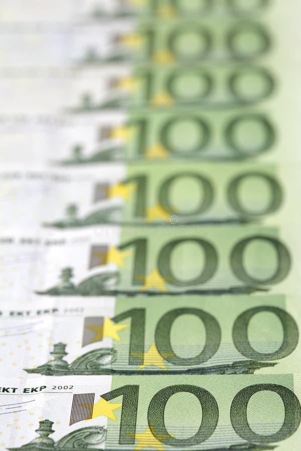 contas 100-Euro fotografia de stock royalty free