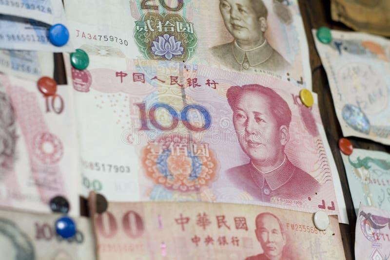 Contas de China com a face do `s de Mao foto de stock royalty free
