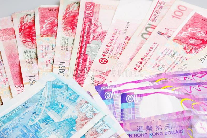 Contas de Hong Kong imagens de stock royalty free