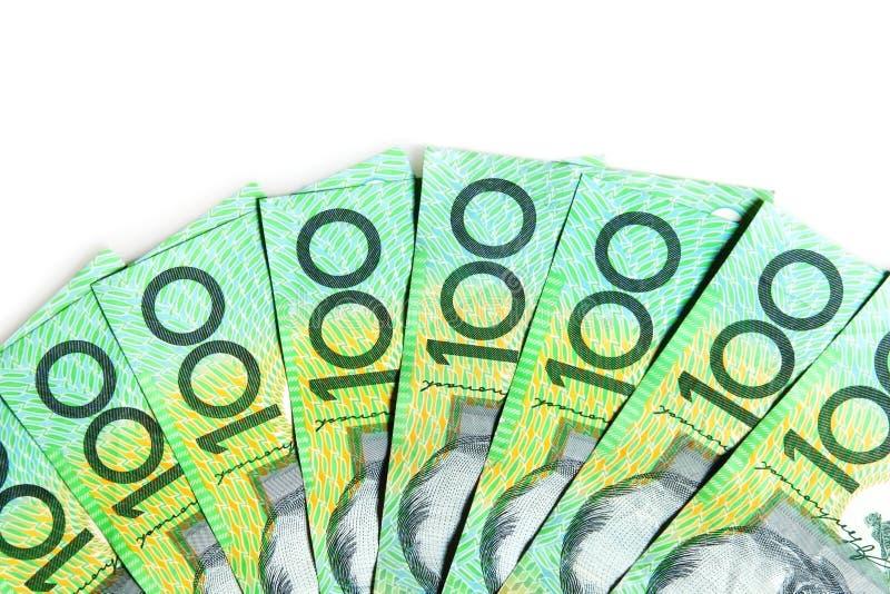 Contas do Australian $100 imagens de stock royalty free