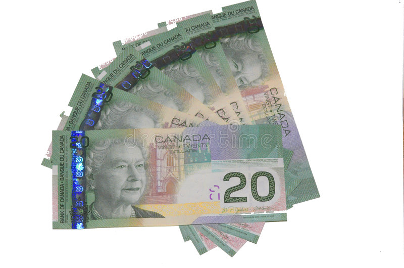 Contas do canadense $20 fotos de stock royalty free