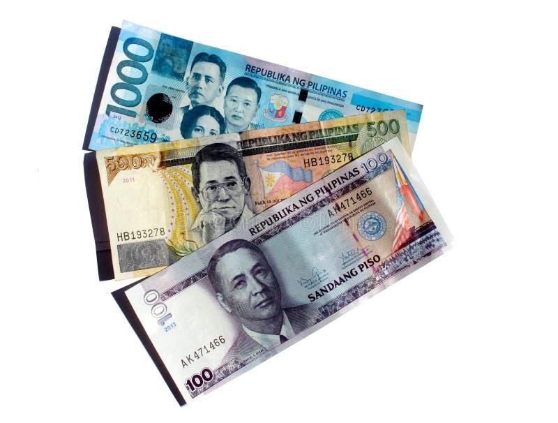 Contas do peso filipino fotos de stock