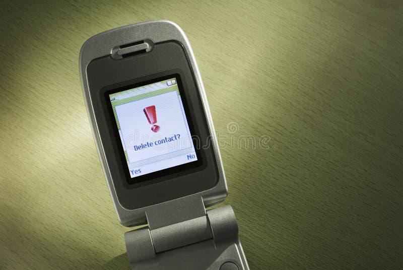 Contato do telemóvel da supressão? foto de stock royalty free