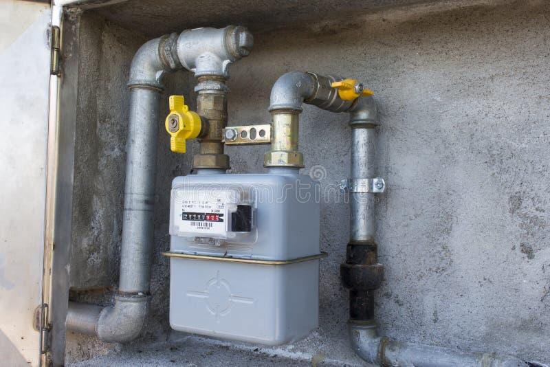 contatore del gas del metano immagine stock immagine