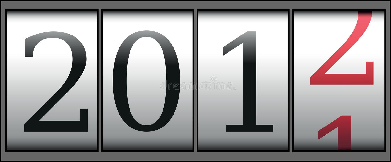 Contatore di nuovo anno illustrazione di stock