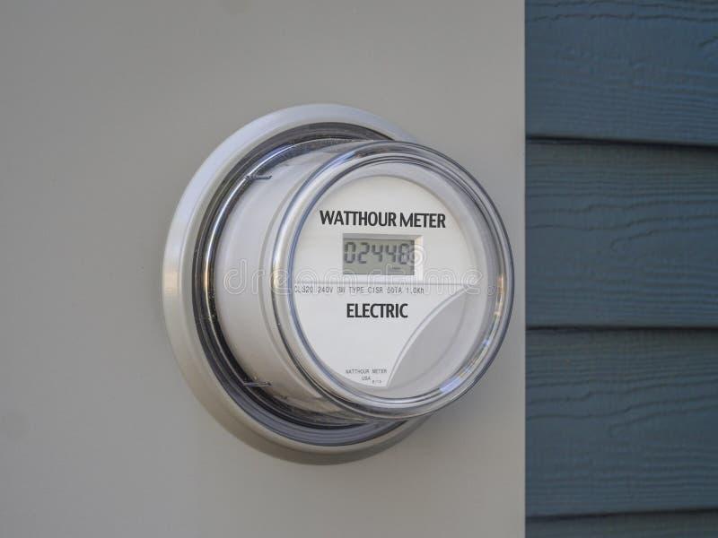 Contatore elettrico dell'alimentazione elettrica di Digital immagine stock