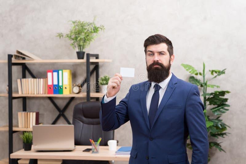 Contatos úteis Cartão farpado da mostra do gerente superior do moderno Serviços de operação bancária para a empresa de pequeno po fotos de stock