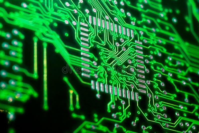 Contatos eletrônicos do processador central fotos de stock royalty free