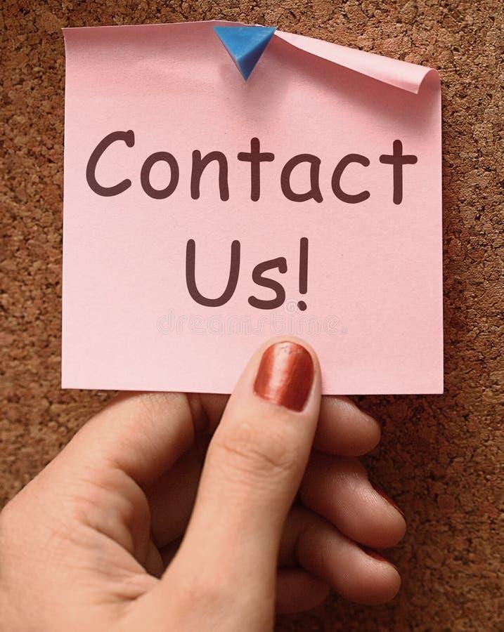 Contattici email o telefonata di manifestazioni del messaggio fotografie stock