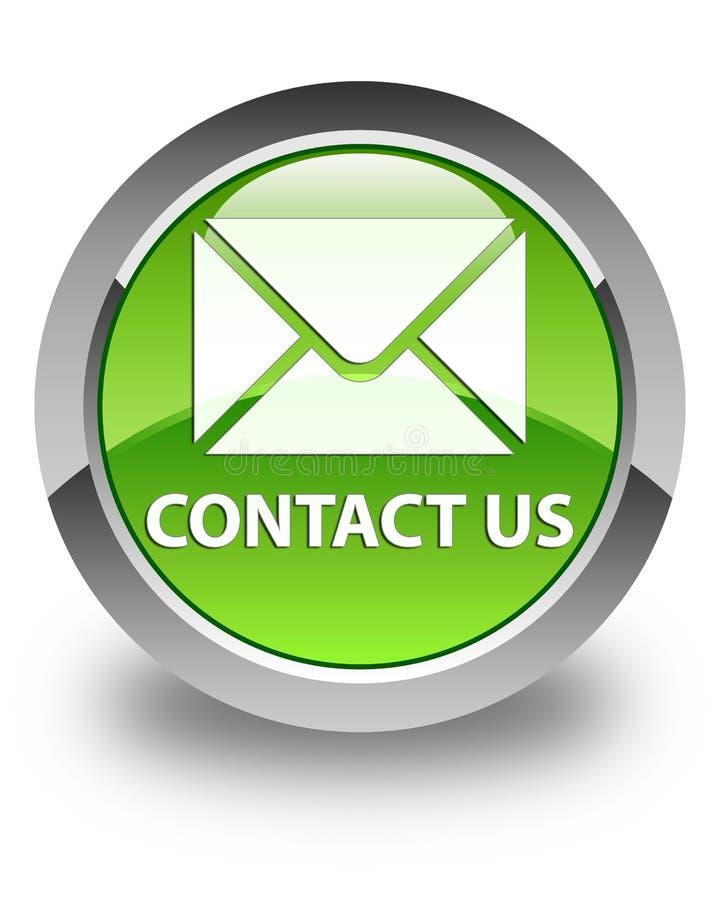 Contattici (icona del email) bottone rotondo verde lucido illustrazione vettoriale