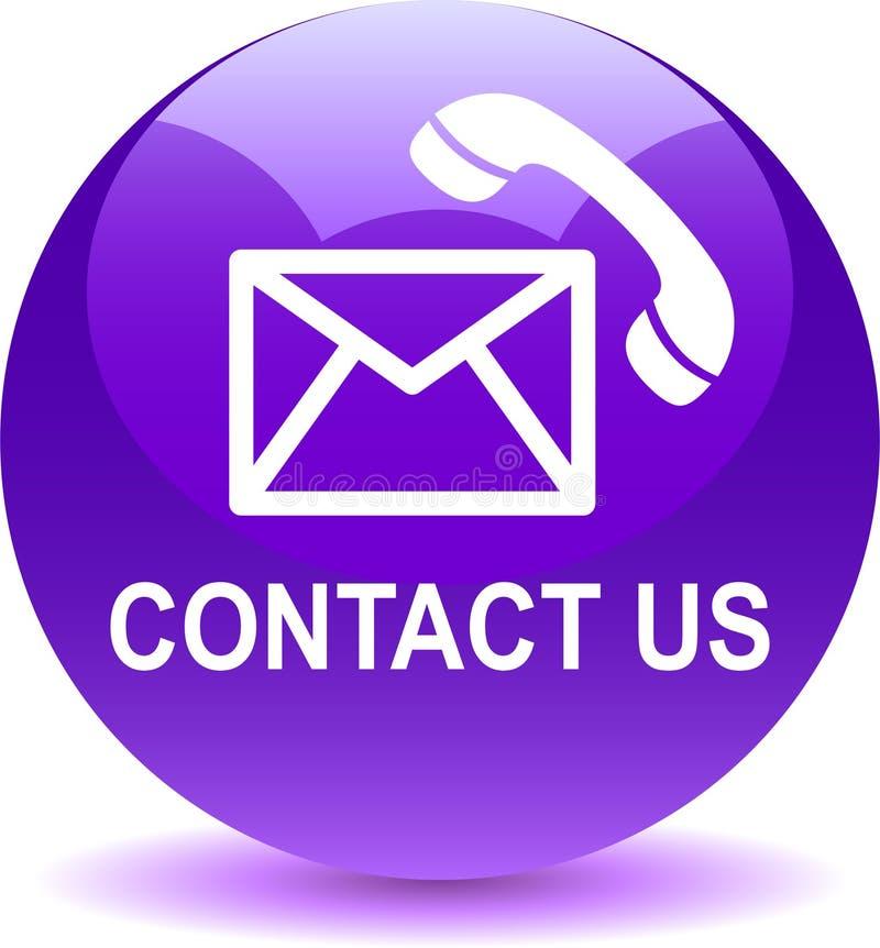 Contattici icone di chiamata di posta viola illustrazione vettoriale