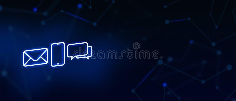 Contattici, il contatto, il contatto del email, la chiamata, il messaggio, la pagina di atterraggio, il fondo, la copertina, icon immagini stock