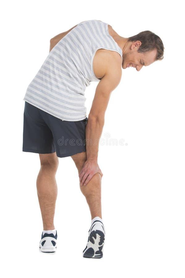 Contatto della sua gamba fotografie stock