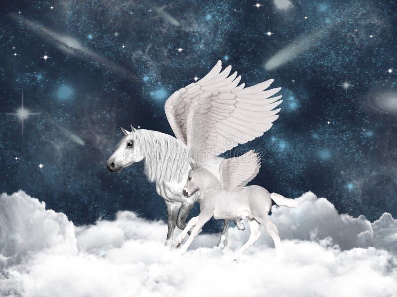 Conte de fées de Pegasus photographie stock libre de droits