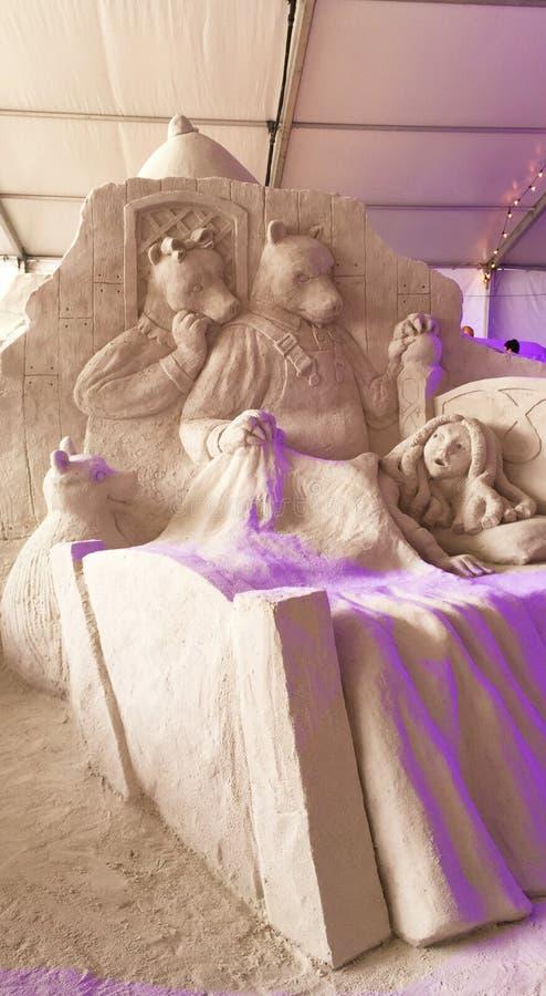 Conte de fées de sculpture en sable photo libre de droits