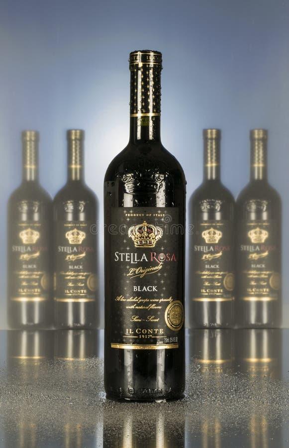 Conte Stella Rosa Stella Black Wine images stock