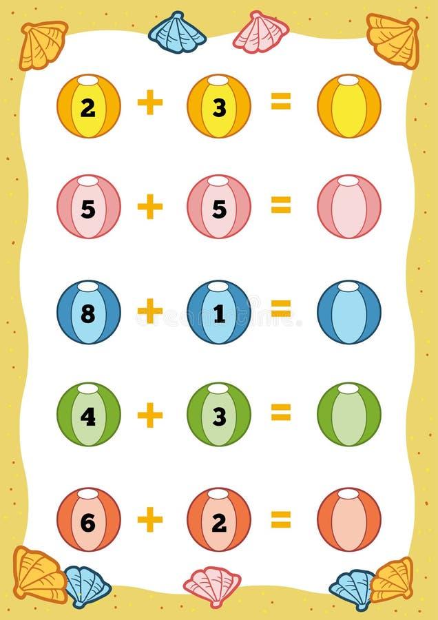 Conteggio del gioco educativo per i bambini fogli di - Numero di fogli di lavoro per bambini ...
