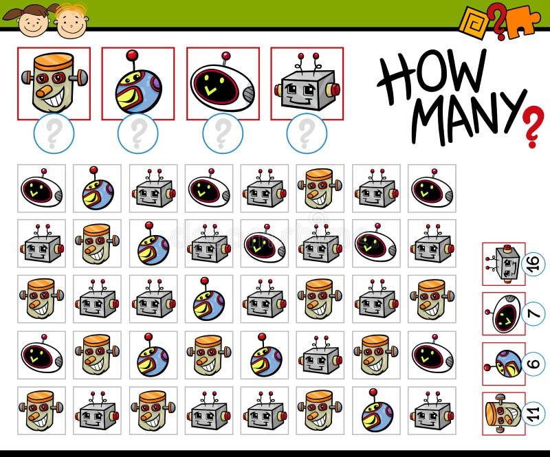 Conteggio dell'illustrazione del fumetto del gioco illustrazione di stock