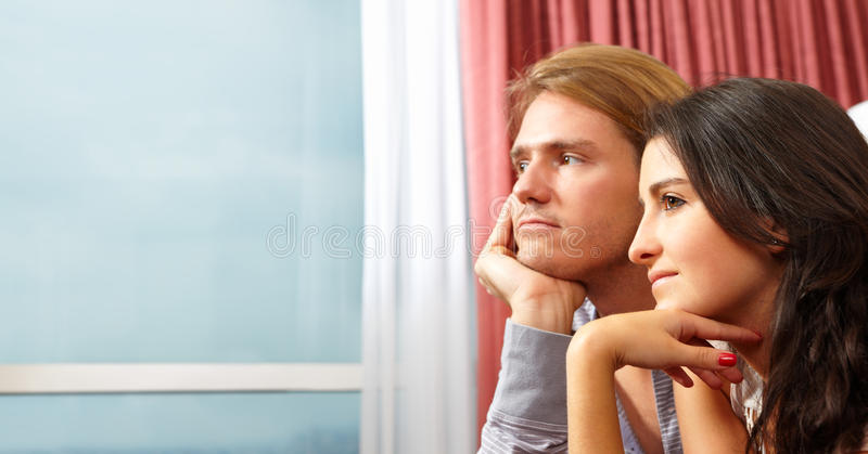 Download Contemplate couple stock photo. Image of looking, young - 19336432
