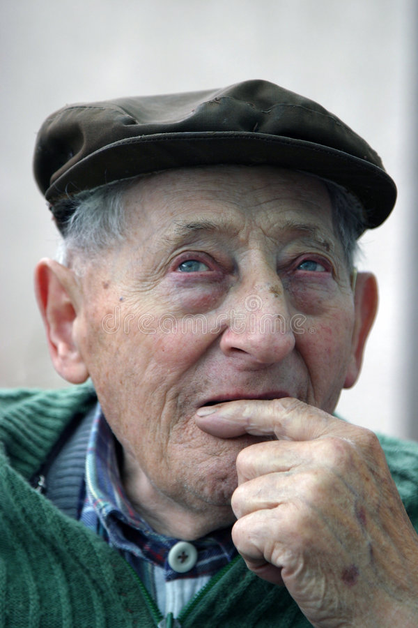 Download Contemplate old man stock image. Image of expressive, dramatic - 908739