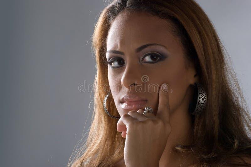 Contemplatieve Vrouw stock fotografie