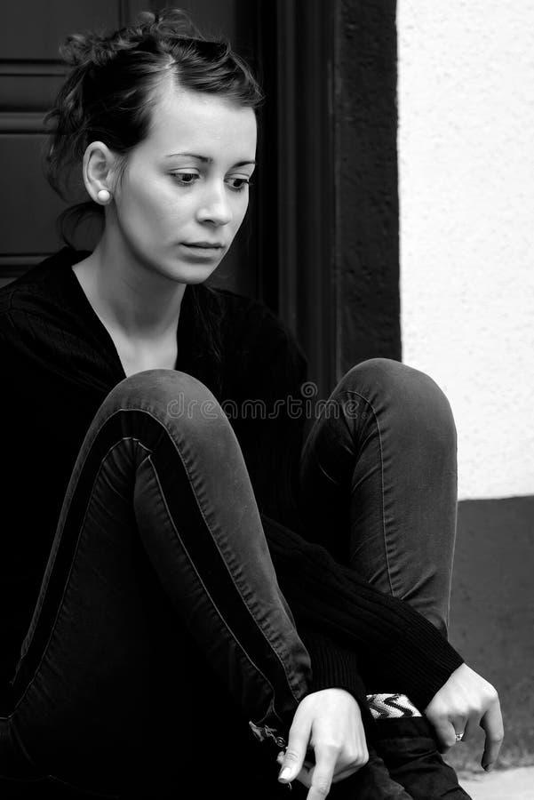 contemplating stockfoto