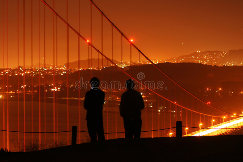 People watching over San Francisco stock photography