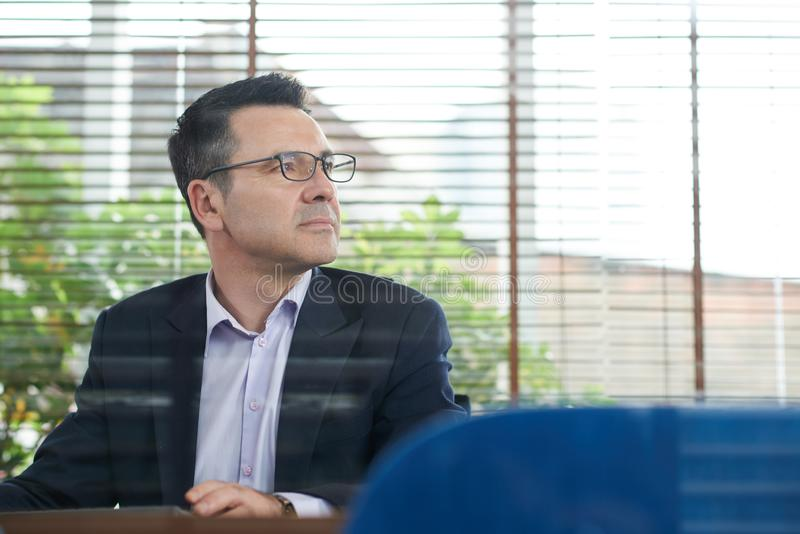 Pensive business executive royalty free stock images