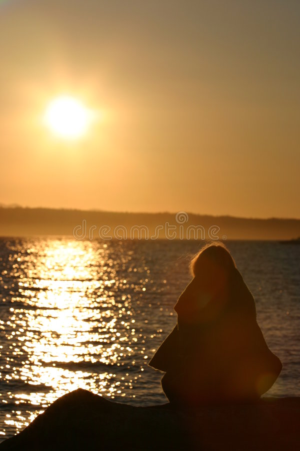 Download Contemplating nothing stock image. Image of beach, coast - 203943