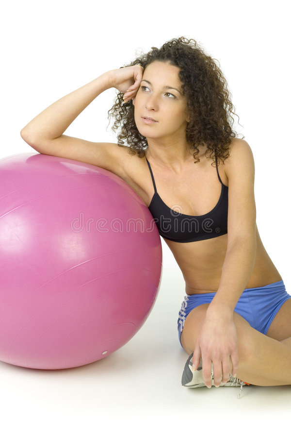 Contemplation In Gym Stock Photography