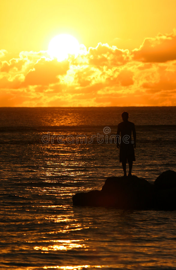 Download Contemplative 2 stock image. Image of reflect, caribbean - 1709815