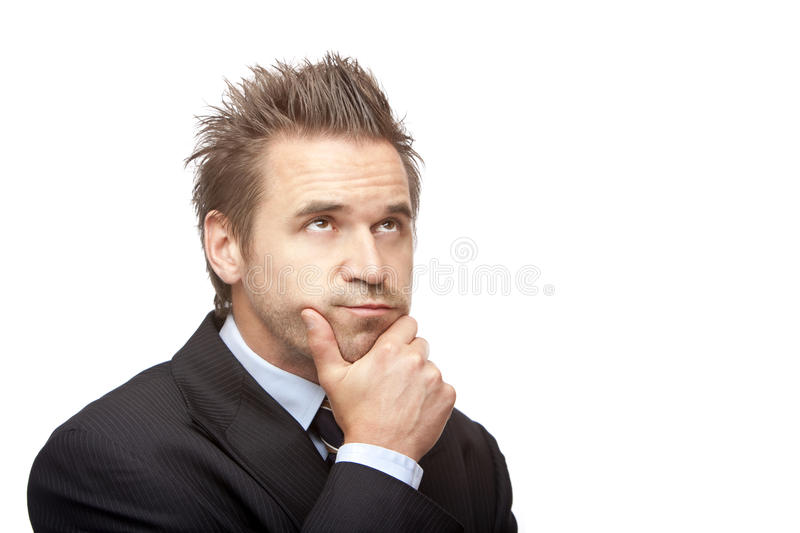 Download Contemplative Businessman Thinks On Problem Stock Photo - Image: 11725756
