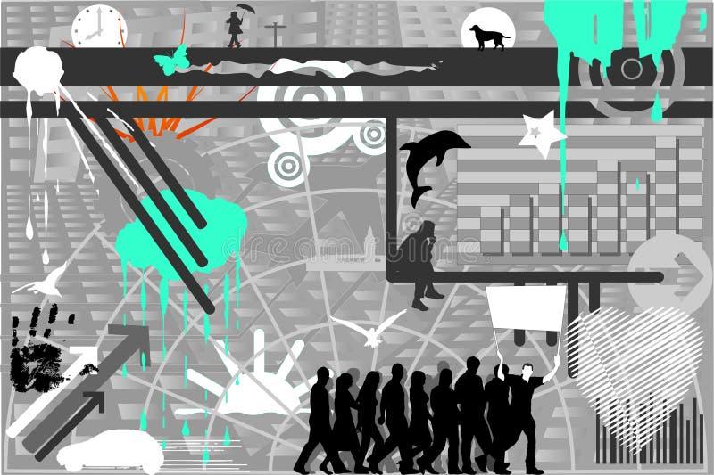 Contemporáneo 1 ilustración del vector