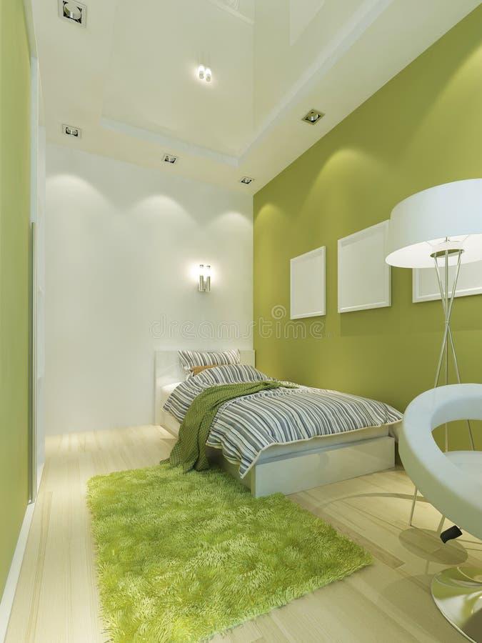 Contemporáneo-estilo del sitio de niños en color verde claro libre illustration