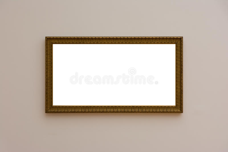 Contemporain blanc blanc vide MOIS d'Art Gallery Frame Picture Wall photographie stock