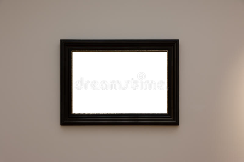 Contemporain blanc blanc vide MOIS d'Art Gallery Frame Picture Wall photo libre de droits