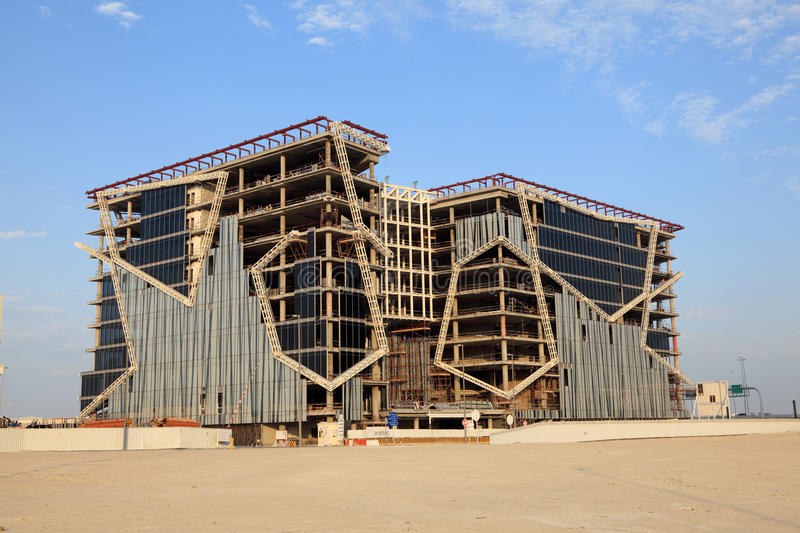 Contemporary Architecture At Bahrain Financial Harbour In Manama, Middle  East