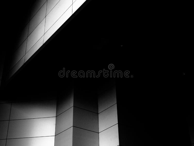Contemporary architecture in black and white stock images