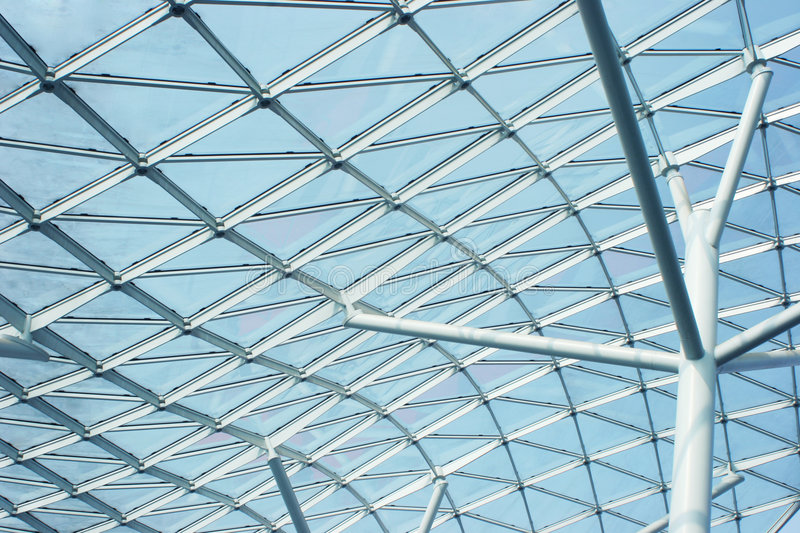 Contemporary architecture: glass building royalty free stock photo