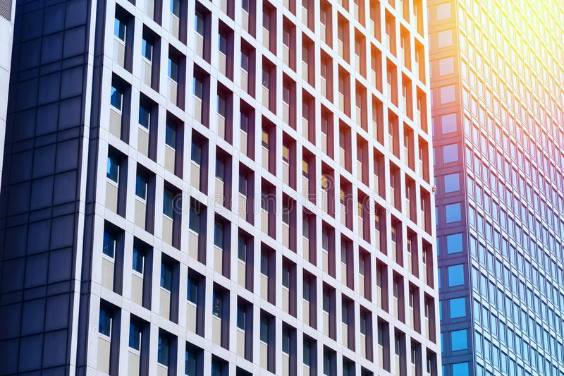Contemporary Architecture Office Building In The City, Perspective Concept.  stock photos