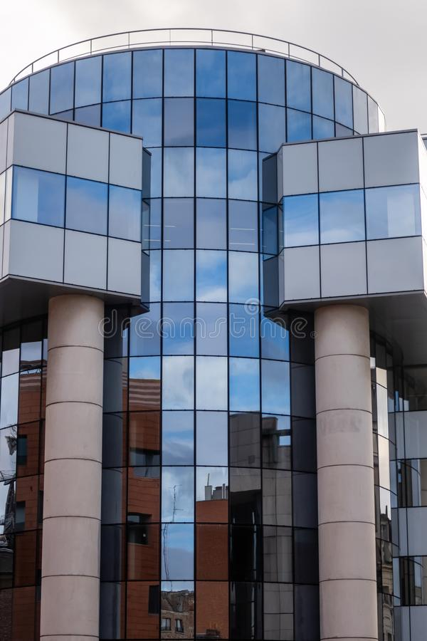 Contemporary architecture: Rue des Canonniers, Lille, France stock photography