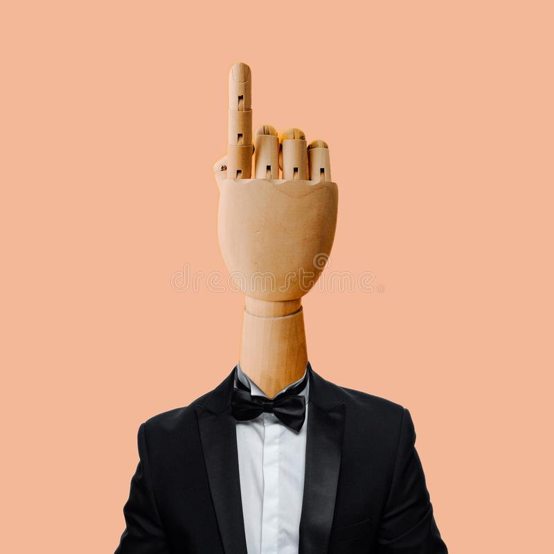 Hand with smoking suit royalty free stock photos