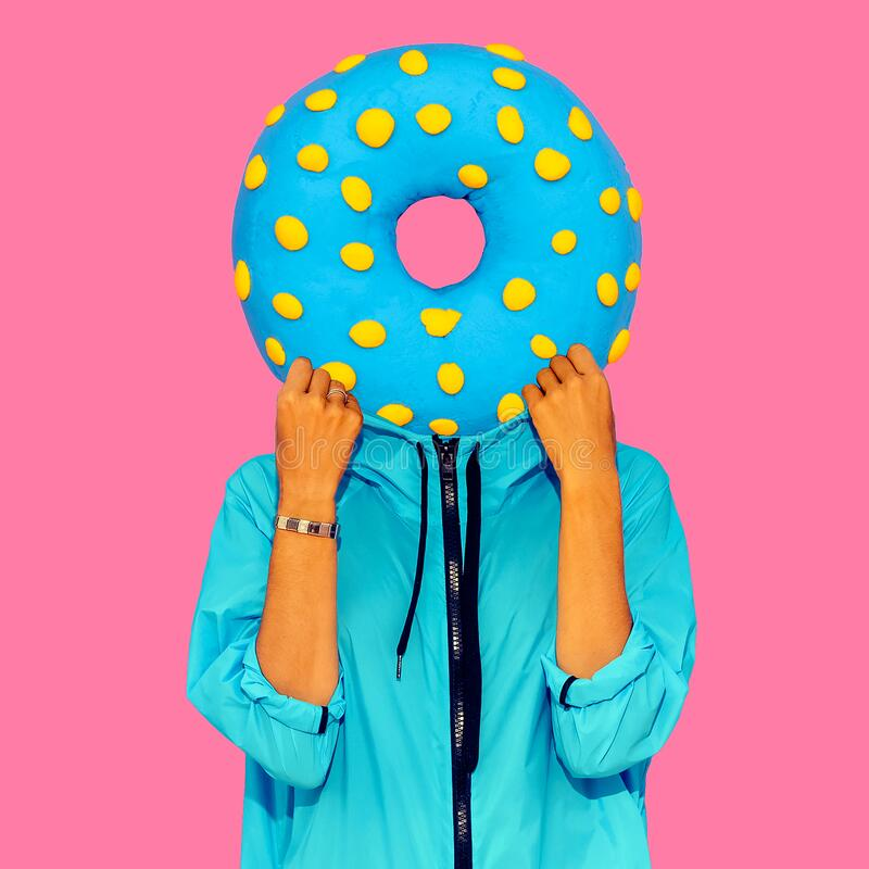 Free Contemporary Art Collage. Minimal Concept. Donut Lover Art Stock Image - 188534761