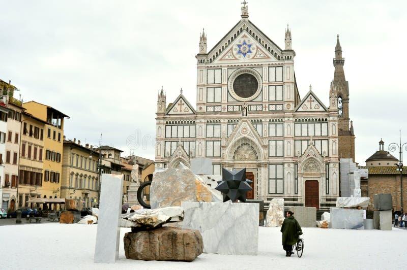 Contemporary art exhibition in Florence, Italy stock photos