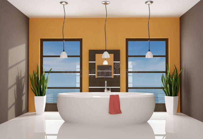 Download Contemporary bathroom stock illustration. Image of towel - 11419975