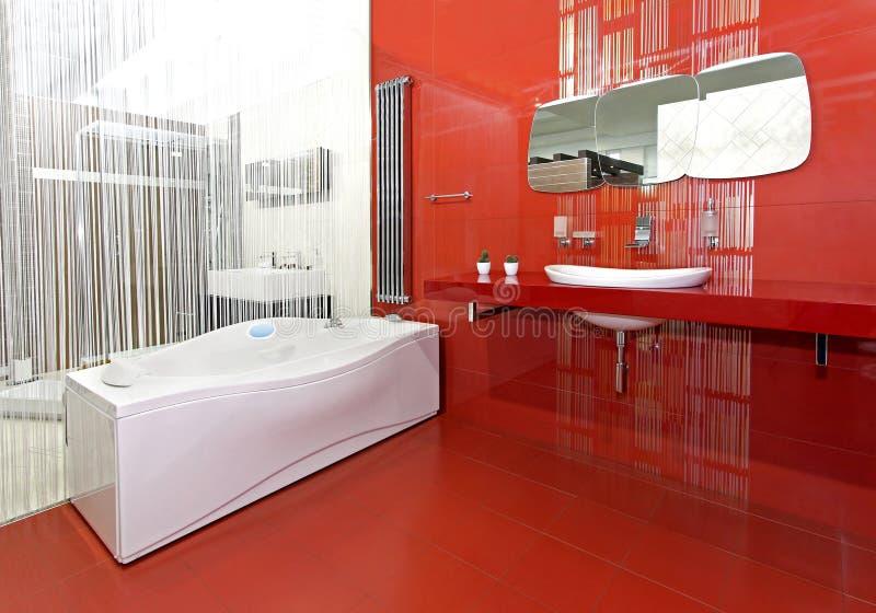 Contemporary bathroom royalty free stock photos