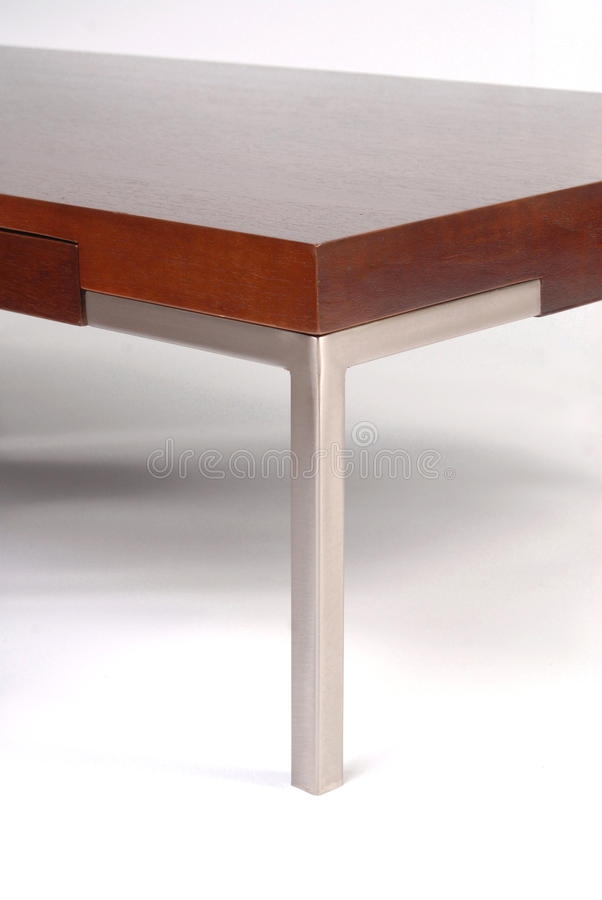 Contemporary coffee table detail royalty free stock photo