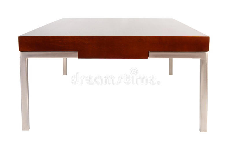 Contemporary coffee table isolated on white royalty free stock images
